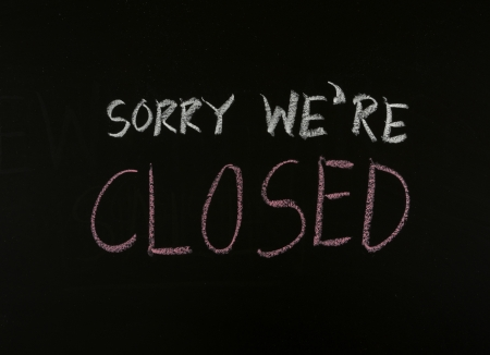 writing sorry we are closed on blackboard