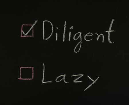 diligent: select diligent  written on blackboard