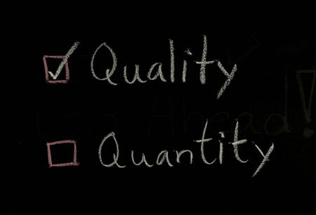 select quality written on blackboard Stock Photo - 22660436