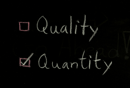select quantity or quantity written on blackboard