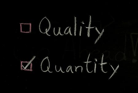 quantity: select quantity or quantity written on blackboard