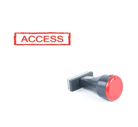 access rubber stamp on white background