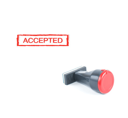 accepted: accepted rubber stamp on white background