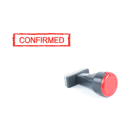 confirmed: confirmed rubber stamp on white background