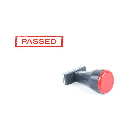 passed stamp: passed rubber stamp on white background