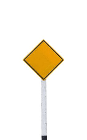blank road sign on white background,isolated with clipping path Stock Photo