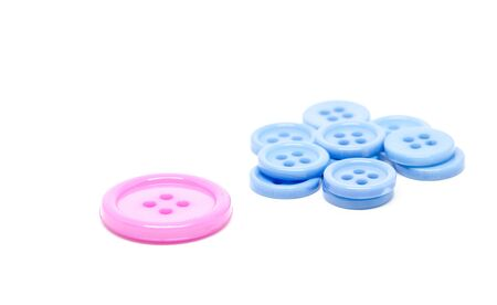 clothing buttons: clothing buttons on white background Stock Photo