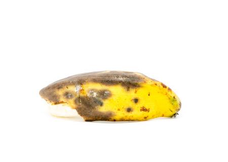 bad banana: rotten banana on white background Stock Photo