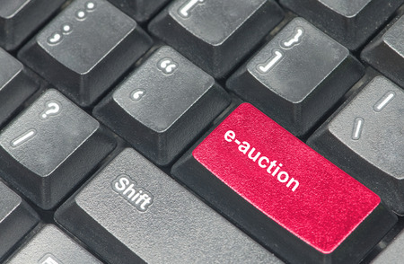e auction: e-auction button with black keyboard