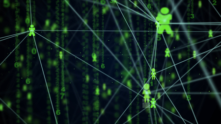 network connection: abstract technology network connection concept for background
