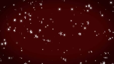 snowflake abstract on red background Stock Photo