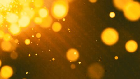 golden grunge abstract bokeh for background Stock Photo