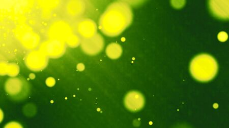 green grunge abstract bokeh for background Stock Photo