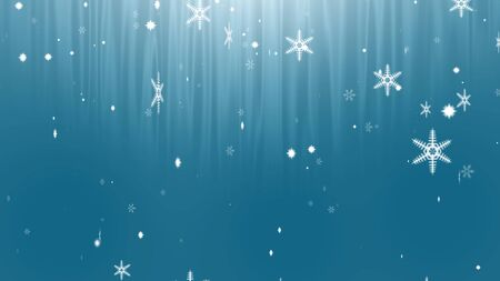 snowflake abstract on blue background