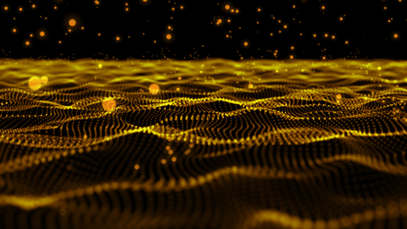 beutiful wave abstract background,gold color