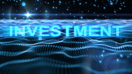 business word 'investment' concept for background