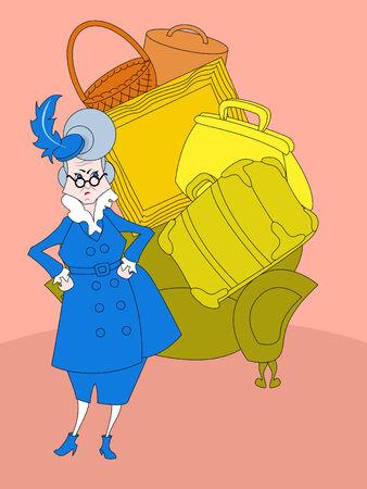 alte dame: B�se alte Dame und ihr Gep�ck