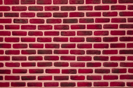 Pink color painted interior decorative brick wall background