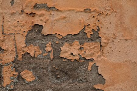 Texture of rusty red brick and concrete wall for background Imagens