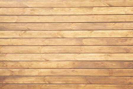 Hellbraune Holzstruktur mit horizontalen Planken, Tisch, Schreibtisch oder Wandfläche Standard-Bild