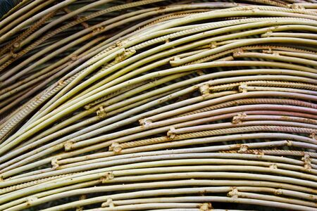 Abstract of copper wire rod metals. Industry and stock market concept.