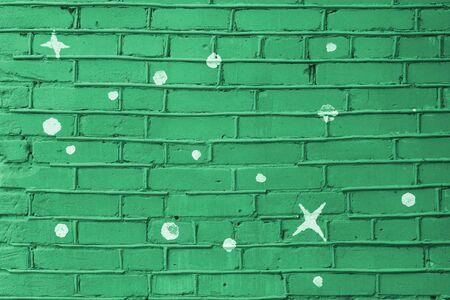 flat mint green color brick wall matte texture. 版權商用圖片