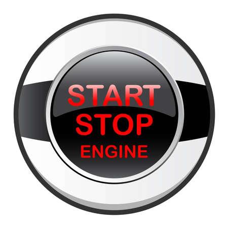 stop start engine Vector