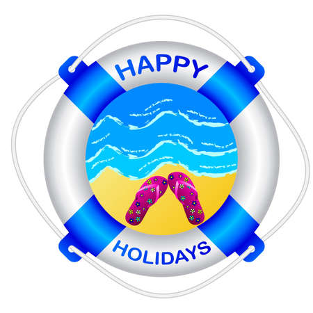 happy holidays Illustration