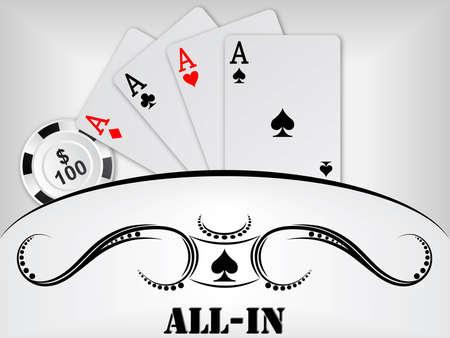 cartas de poker: de fondo de p�quer Vectores
