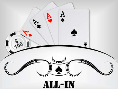 poker cards: poker background