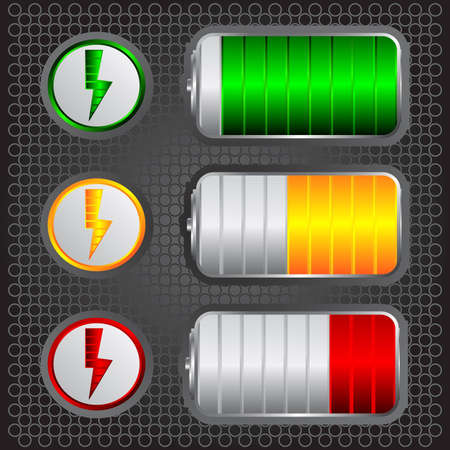 recharge: battery levels Illustration