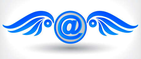 email symbols with wings Illustration