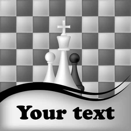 chess knight: scacchi sfondo Vettoriali