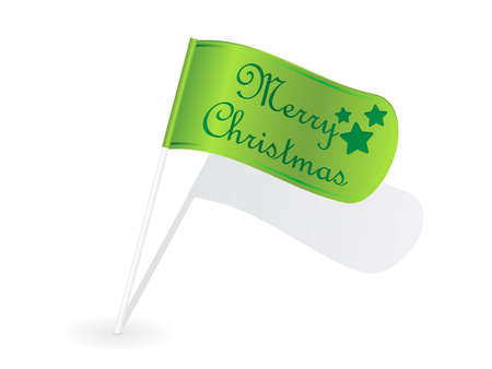 Christmas flag Illustration