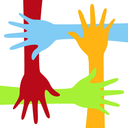 Diversity concept design, hands connected