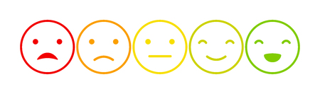 Emoticons mood scale Vector Illustration