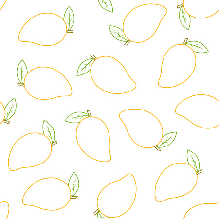Seamless pattern with mango