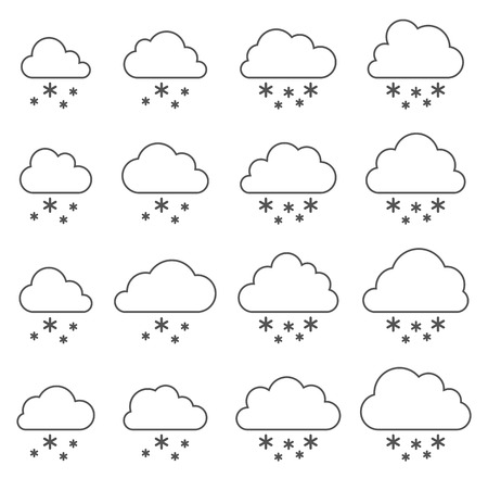 Cloud and snow on white background Иллюстрация