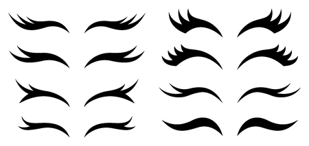 Set of eyelashes for background, promotion, sale, template, banner, flayer, poster and other