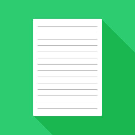 Icono de papel plano