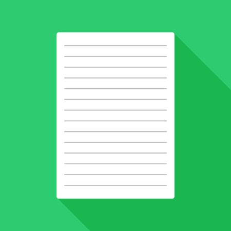 Papier plat pictogram