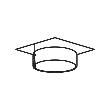 Graduation cap flat icon on white background, for any occasion Vectores