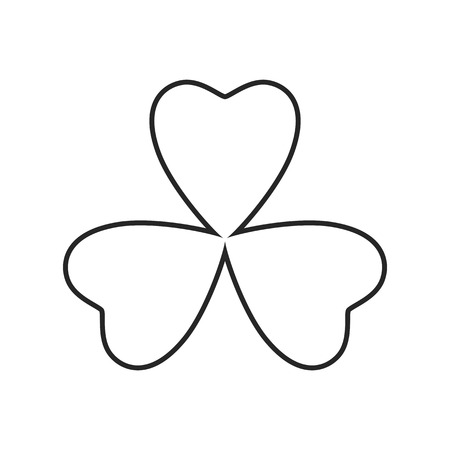 Clover flat icon on white background, for any occasion