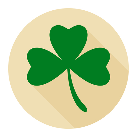 Clover flat icon on cream background for any occasion