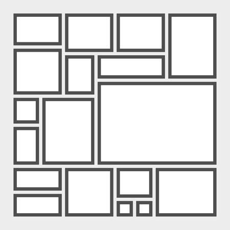 Mood board template Illustration