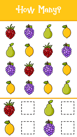 Count how many fruits for background, promotion, sale, template, banner, flayer, poster and other