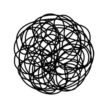 Chaotic line isolated on white background Vektoros illusztráció