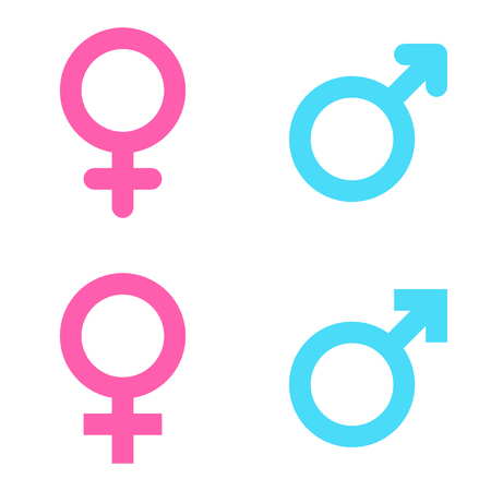 Set of male and female symbols 일러스트