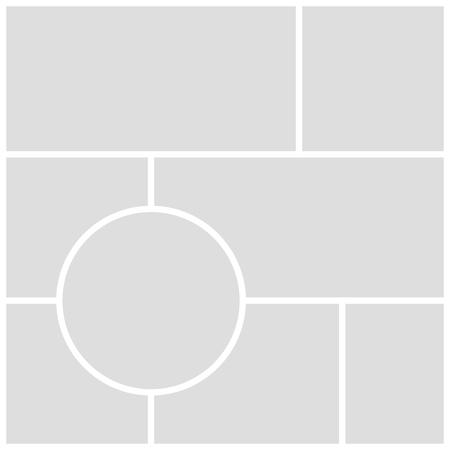 Graue Moodboard-Vorlage auf weißem Hintergrund