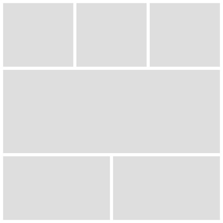 Gray mood board template on white background
